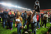Pitch invaders after the EFL Sky Bet League 1 second leg Play-Off match between Charlton Athletic and Doncaster Rovers at The Valley, London, England on 17 May 2019.