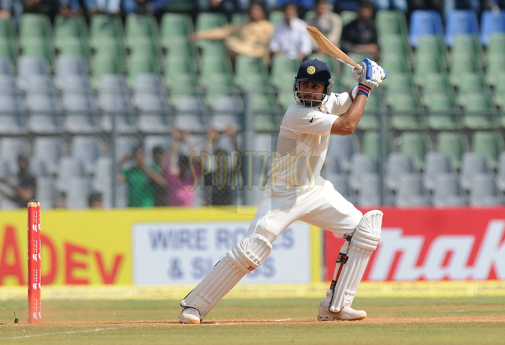 Virat Kohli of India bats during the 4th day of the 3rd test match between India and The West Indies held at Wankhede Stadium in Mumbai, India on the 25th November 2011..Photo by Pal Pillai/BCCI/SPORTZPICS.