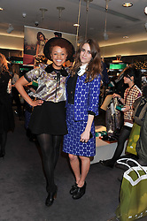 Left to right, GEMMA CAIRNEY and JADE WILLIAMS - SUNDAY GIRL at the Launch Of The Marni For H&M Collection held at H&M Regent Street, London on 7th March 2012.