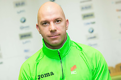 Rok Predanic during press conference of Slovenian Team for European Indoor Athletics Championships Prague 2015, on March 4, 2015 in Ljubljana, Slovenia. Photo by Vid Ponikvar / Sportida