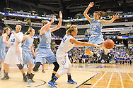 4/4/16 – Indianapolis, IN – CAPTION in the NCAA Div. III women's basketball championship on Monday, April 4, 2016. (Evan Sayles / The Tufts Daily)
