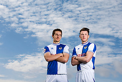 Tom Lockyer and Ollie Clarke of Bristol Rovers pose for photographs after they both sign new contracts with the club - Photo mandatory by-line: Rogan Thomson/JMP - 07966 386802 - 17/03/2014 - SPORT - FOOTBALL - Friends Life Sports Ground, Bristol - Bristol Rovers Player Signing at the training ground.- Photo mandatory by-line: Rogan Thomson/JMP - 07966 386802 - 17/03/2014 - SPORT - FOOTBALL - Friends Life Sports Ground, Bristol - Bristol Rovers Player Signing at the training ground.