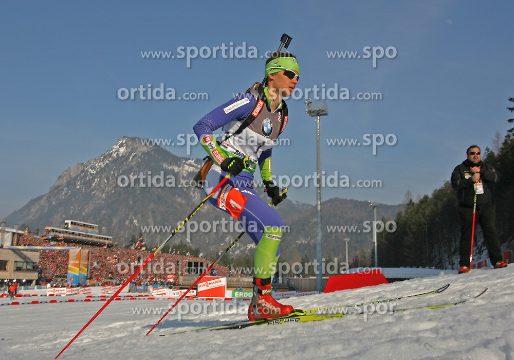 03/03/2012, Ruhpolding, Germany. Teja GREGORIN (SLO) in action during the Biathlon World Championships 2012 - Sprint Women 7,5 km  .© Pierre Teyssot / Sportida.com