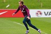 England forward Harry Kane stretches for the ball during the England Training Session at St George's Park National Football Centre, Burton-Upon-Trent, United Kingdom on 7 October 2015. Photo by Aaron Lupton.