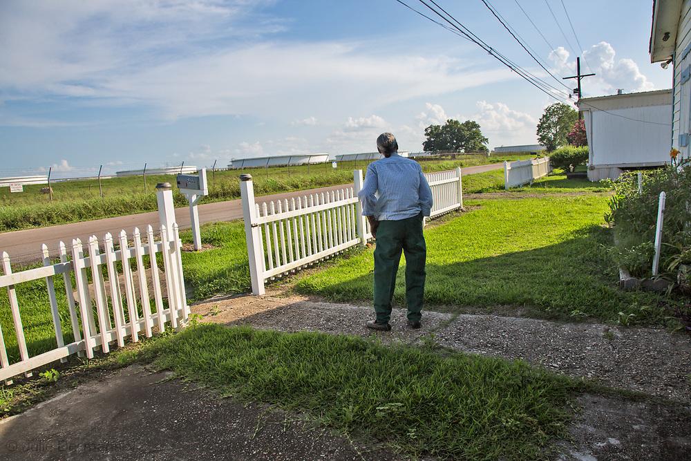 Resident in St James Louisiana on Burton Lane living across the street from oil storage tanks.