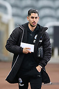 Ayoze Perez (#17) of Newcastle United arrives ahead of the Premier League match between Newcastle United and Burnley at St. James's Park, Newcastle, England on 31 January 2018. Photo by Craig Doyle.