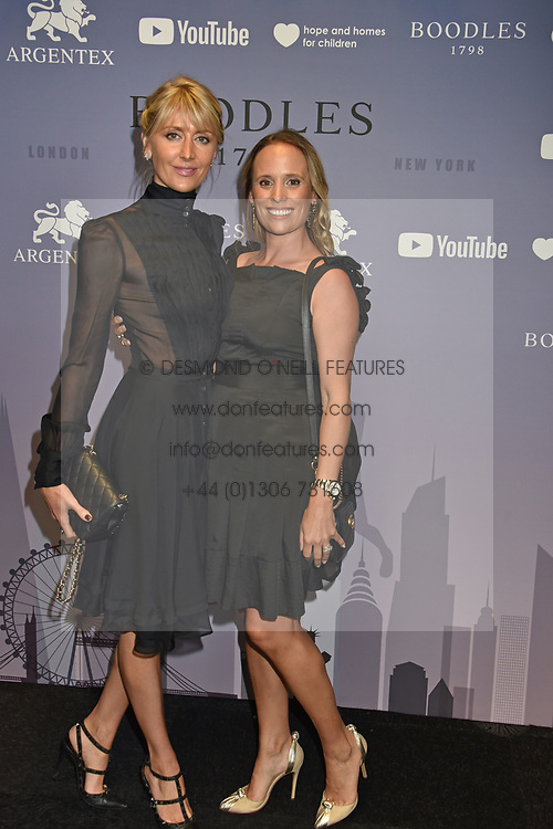 Lady Emily Compton and Lisette Vane Percy at the Boodles Boxing Ball, in association with Argentex and YouTube in Support of Hope and Homes for Children at Old Billingsgate London, United Kingdom - 7 Jun 2019 Photo Dominic O'Neil