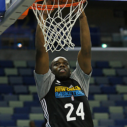 December 17, 2011; New Orleans, LA, USA; New Orleans Hornets forward Carl Landry (24) dunks during a scrimmage at the New Orleans Arena.   Mandatory Credit: Derick E. Hingle-US PRESSWIRE