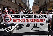 Protest Over Benalla Case Paris - 27 July 2018