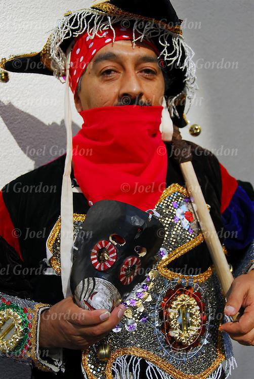 Hispanic Day Parade Mexican Americans Ethnic Pride dressed in folklore regalia