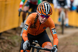 VAN ANROOIJ Shirin (NED) during Women Elite race, 2019 UCI Cyclo-cross World Cup Heusden-Zolder, Belgium, 26 December 2019.  <br /> <br /> Photo by Pim Nijland / PelotonPhotos.com <br /> <br /> All photos usage must carry mandatory copyright credit (Peloton Photos | Pim Nijland)