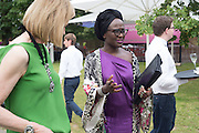 Julia Peyton-Jones; Lynette Yiadom-Boakye, 2016 SERPENTINE SUMMER FUNDRAISER PARTY CO-HOSTED BY TOMMY HILFIGER. Serpentine Pavilion, Designed by Bjarke Ingels (BIG), Kensington Gardens. London. 6 July 2016