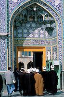 Iran, province de Qom, ville de Qom, mausolee de la soeur de l Imam Reza, Fatimah Masoumeh // Iran, Qom province, Qom city, Imam Reza sister mausoleum, Fatimah Masoumeh