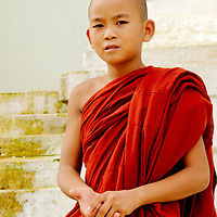 Young monk outside Shwe Yan Pya  monastery