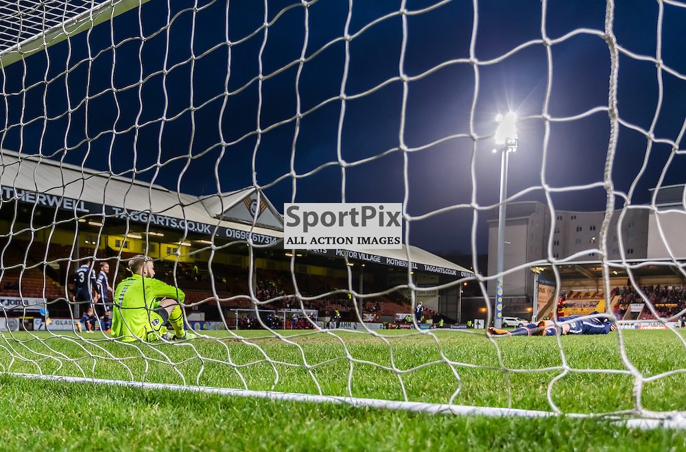 Ross County's 'keeper Scott Fox after teammate lAndrew Davies own goal during the Partick Thistle FC V Ross County FC Ladbrokes Scottish Premiership game played at Firhill Stadium, Glasgow on 19th December 2015; (c) BERNIE CLARK | SportPix.org.uk