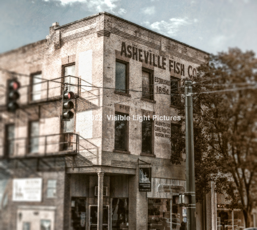 An older building in downtown Asheville.