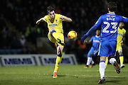 AFC Wimbledon defender Sean Kelly (22) clears the ball during the EFL Sky Bet League 1 match between Gillingham and AFC Wimbledon at the MEMS Priestfield Stadium, Gillingham, England on 21 February 2017.