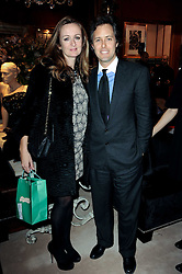 Ralph Lauren unique 4D light installation event, celebrating the launch of the UK ecommerce site, held at Ralph Lauren, 1 New Bond Street, London W1 on 10th November 2010.  Picture Shows:-LUCY YEOMANS and DAVID LAUREN