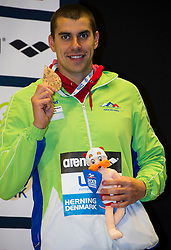 100m Breaststroke Men Final<br /> DUGONJIC Damir Slovenia SLO Bronze Medal<br /> XVII European Short Course Swimming Championships<br /> Herning - DEN Denmark Dic. 12-15 2013<br /> Day02 - Dec. 13 , 2013<br /> Photo G.Scala