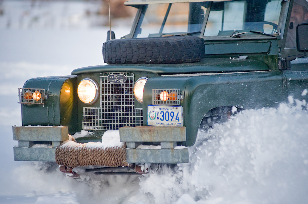 Series 2A Land Rover 109 in deep snow Photo by Edwin Remsberg , www.remsberg.com ,