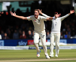 England's Stuart Broad appeals for an LBW during day three of the Third Investec Test match at Lord's, London.