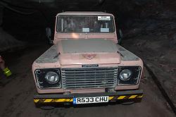 Mine manger's Land Rover in Boulby Potash mine