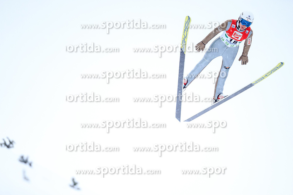 17.12.2017, Nordische Arena, Ramsau, AUT, FIS Weltcup Nordische Kombination, Skisprung, im Bild Adam Cieslar (POL) // Adam Cieslar of Poland during Ski jumping competition of FIS Nordic Combined World Cup, at the Nordic Arena in Ramsau, Austria on 2017/12/17. EXPA Pictures © 2017, PhotoCredit: EXPA/ Dominik Angerer
