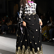 Designer Fresh and Different showcases its latest collection at the Africa Fashion Week London (AFWL) at Freemasons' Hall on 11 August 2018, London, UK.