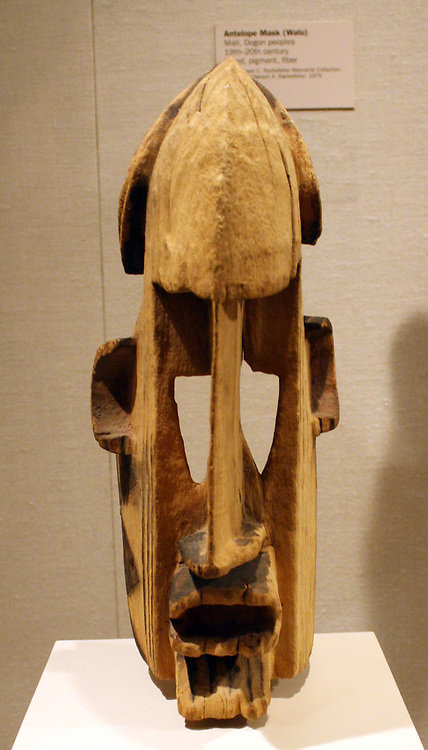 Foreign Warrior Mask (Samana) Mali, Dogon peoples 19th-20th century.  Wood, pigment.