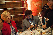CINDY SHERMAN; SIDDARTHA MUKHERJEE; SARAH SZE;  The Bronx Museum of the Arts, Tanya Bonakdar Gallery and the Victoria Miro Gallery host a reception and dinner in honor of Sarah Sze: Triple Point. Representing the United States of America at the 55th Biennale di Venezia with the Co  Commissioners of the  U. S. Pavilion Holly Block, Executive Director of the Bronx Museum of the arts  and Carey Lovelace. <br /> <br /> Rialto Fish market. Venice. . 29 May 2013