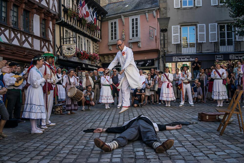 The Festival de Cornouaille on Friday, July 22, 2016 in Quimper, France.