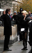 Kevin Zegers and Taylor Momsen appear on the set of Gossip Girl while taping on the Upper East Side in New York City on November 12, 2009.