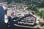 Alaska, Ketchikan. Southeast Alaska Port of Call , Ketchikan, known as the rainfall capital of Alaska, with cruise ships in the harbor.