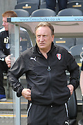 Rotherham United manager Neil Warnock during the Sky Bet Championship match between Hull City and Rotherham United at the KC Stadium, Kingston upon Hull, England on 7 May 2016. Photo by Ian Lyall.