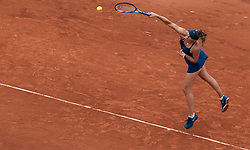 May 29, 2018 - Paris, France - Maria Sharapova of Russia serves against Richel Hogenkamp of Netherland during the first round at Roland Garros Grand Slam Tournament - Day 3 on May 29, 2018 in Paris, France. (Credit Image: © Robert Szaniszlo/NurPhoto via ZUMA Press)