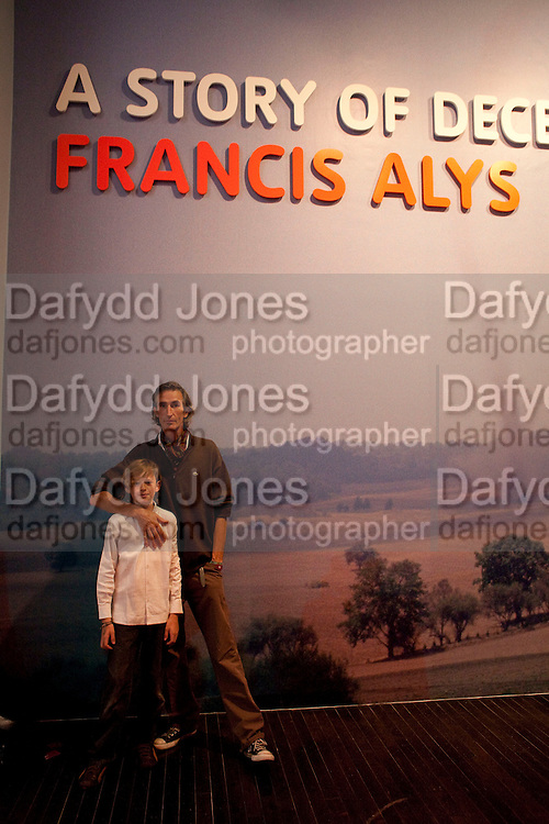 FRANCIS ALYS; ELLIOT ALYS, A story of Deception. Exhibition of work by Francis Alys. Tate Modern. London. 14 June 2010. -DO NOT ARCHIVE-© Copyright Photograph by Dafydd Jones. 248 Clapham Rd. London SW9 0PZ. Tel 0207 820 0771. www.dafjones.com.