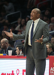 December 9, 2017 - Los Angeles, California, United States of America - Coach, Doc Rivers of the Los Angeles Clippers during their NBA game with the Washington Wizards on Saturday December 9, 2017 at the Staples Center in Los Angeles, California. Clippers defeat Wizards, 113-112. JAVIER ROJAS/PI (Credit Image: © Prensa Internacional via ZUMA Wire)