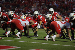 19 September 2009: Matt Brown checks out the defensive alignments while under center Cal McCarthy in a game which the Austin Peay Governors were defeated 38-7 by the Illinois State Redbirds at Hancock Stadium on campus of Illinois State University in Normal Illinois
