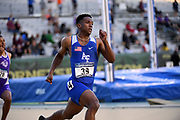 Sedacy Walden (39) of Air Force runs in the 400m during the NCAA West Track & Field Preliminary, Thursday, May 25, 2019, in Sacramento, Calif.
