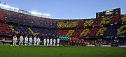 01.05.2013, Fussball Champions League Halbfinale Rückspiel: FC Barcelona - FC Bayern München, im Stadion Nou Camp in Barcelona, Spanien.Aufstellung beider Mannschaften