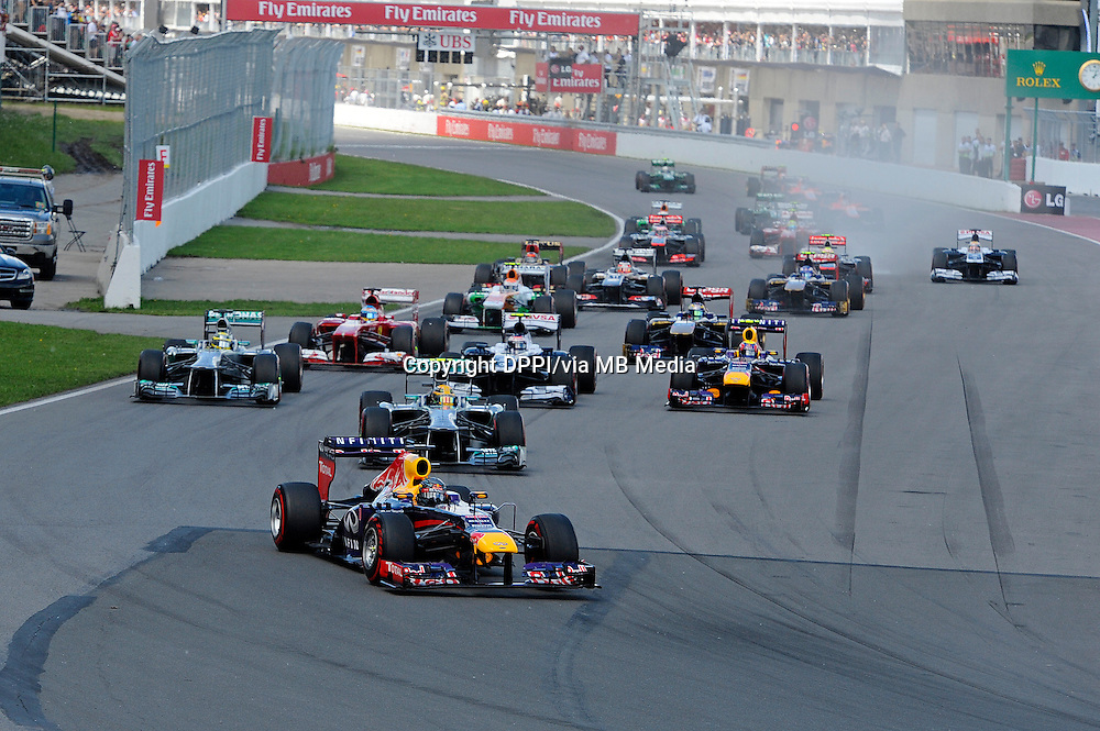 MOTORSPORT - F1 2013 - GRAND PRIX OF CANADA - MONTREAL (CAN) - 07 TO 09/06/2013 - PHOTO DPPI - DEPART - START