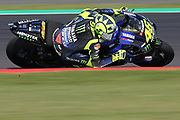 #46 Valentino Rossi, Italian: Movistar Yamaha MotoGP during the GoPro British MotoGP at Silverstone, Towcester, United Kingdom on 24 August 2019.
