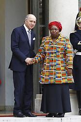 Nov. 14, 2012 - Paris, France - Laurent Fabius (Ministre des affaires etrangeres) et Nkosazana DLAMINI ZUMA  (Credit Image: © Panoramic/ZUMAPRESS.com)
