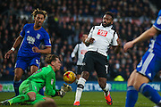 Birmingham City  goalkeeper Tomasz Kuszczak (29) saves from Derby County forward Darren Bent (11)  during the EFL Sky Bet Championship match between Derby County and Birmingham City at the iPro Stadium, Derby, England on 27 December 2016. Photo by Simon Davies.