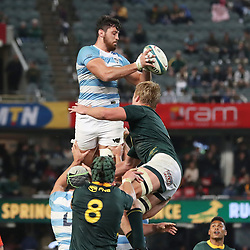 DURBAN, SOUTH AFRICA - AUGUST 18: Javier Ortega Desio of Argentina during the Rugby Championship match between South Africa and Argentina at Jonsson Kings Park on August 18, 2018 in Durban, South Africa. (Photo by Steve Haag/Gallo Images)
