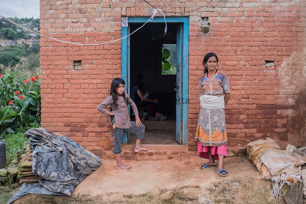 At the small village of Bulle, in the Kathmandu valley, where over 50 Christians live, creating the first generation of Christians there. Pastor Keshab Bogati lives here with his sister and his mother after the 2015 earthquake destroyed his house