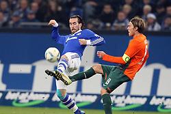 13.12.2011, Arena auf Schalke, Gelsenkirchen, GER, 1.FBL, Schalke 04 vs Werder Bremen, im BildChristian Fuchs (Schalke #23) gegen Clemens Fritz (Bremen #8) // during the 1.FBL, Schalke 04 vs Werder Bremen on 2011/12/17, Arena auf Schalke, Gelsenkirchen, Germany. EXPA Pictures © 2011, PhotoCredit: EXPA/ nph/ Mueller..***** ATTENTION - OUT OF GER, CRO *****