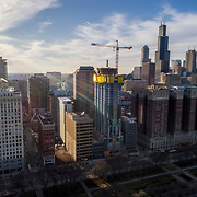 Chicago, Essex On The Park under construction, March 2018.