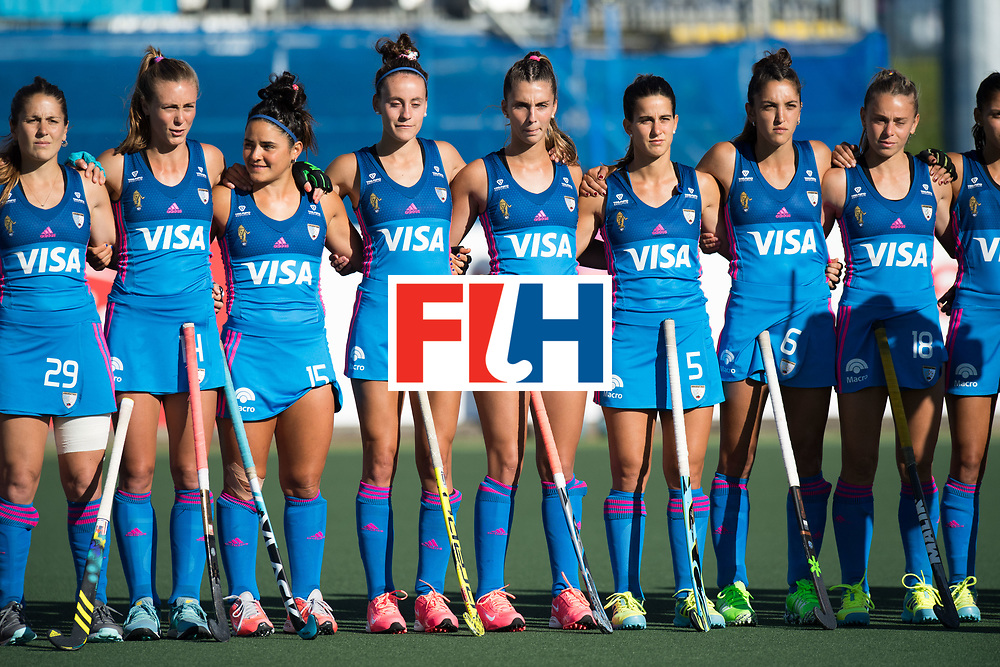AUCKLAND - Sentinel Hockey World League final women<br /> Match id: 10301<br /> 11 GER v ARG (Pool B)<br /> Foto: Line up Argentina.<br /> WORLDSPORTPICS COPYRIGHT FRANK UIJLENBROEK