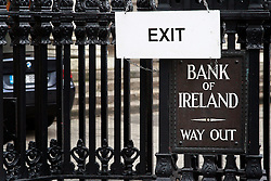 Bank of Ireland © London News Pictures 10/01/2011.Irish Prime Minister Brian Cowen is under pressure over his relationship with former Anglo Irish Bank chairman Sen FitzPatrick. Anglo Irish Bank was taken into state ownership in January 2009 and is the largest contributor of assets to the Irish National Asset Management Agency. Picture caption should read Simon Lamrock/LNP
